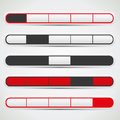 Navigation bar set with red, white and black colors Royalty Free Stock Photo