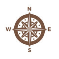 Navigation Compass Logo vintage design vector template.Wind rose Logotype