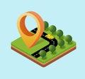 Navigation icon Royalty Free Stock Photo