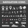 Navigation icon set