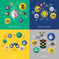 Navigation Icon Set Royalty Free Stock Photo
