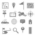 Navigation icon set for gps application illustration of Royalty Free Stock Image