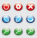 Navigation icons Royalty Free Stock Photo