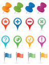 Navigation icons set for you design Royalty Free Stock Photos