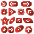 Navigation Label Set - Red Royalty Free Stock Photo