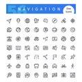Navigation Line Icons Set