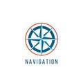 Navigation logo template with compass