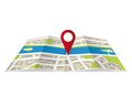 Navigation map with pin pointer Stock Photos