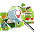Navigation Setup with Magnifing Glass Royalty Free Stock Photo