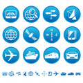 Navigation & transport icons Royalty Free Stock Photo