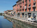 Naviglio Grande, Milan Royalty Free Stock Photos