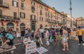 Navona square in rome italy this where you can find a lot of artists street performers and entertainers shot summer of Royalty Free Stock Photo
