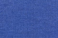 Navy blue background from a textile material with wicker pattern, closeup. Royalty Free Stock Photo