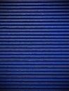 Navy blue corrugated sheet metal Royalty Free Stock Photo