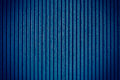 Navy blue corrugated sheet metal for background Stock Image
