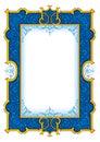 Navy Blue Vintage Frame №1003