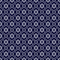 Navy Blue and White Star of David Repeat Pattern Background Royalty Free Stock Photo
