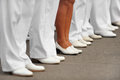 Navy day officers stand in formation for s parade Stock Image