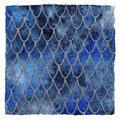 Dragon skin scales blue sapphire silver vector pattern texture background Royalty Free Stock Photo