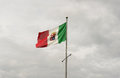 Navy flag italy of the italian flies in the sky over cagliari Stock Photos