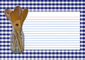 Navy Gingham Recipe Card Stock Photos