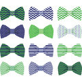 Navy and Green Bow Tie Collection