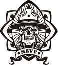 NAVY Military Design - Vector illustration. Stock Photo
