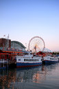 Navy pier chicago a view of Stock Photos