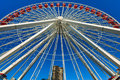 Navy pier ferris wheel whel in downtown chicago Stock Photo