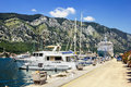 Navy Pier with yachts and cruise liners in the town of Kotor