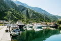 Navy Pier with yachts in the town of Kotor