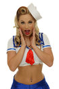 Navy pinup girl Stock Images