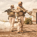 Navy SEALs in action Royalty Free Stock Photo