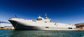 Navy ship moored in toulon harbor france Stock Images