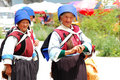 Naxi women in Lijiang Stock Image