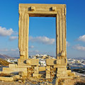 Naxos, ancient temple Stock Images