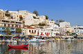 Naxos island in greece at the cyclades of the aegean sea Stock Image