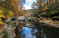 Nay Aug Gorge in Autumn Royalty Free Stock Photo