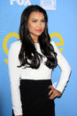 Naya Rivera arrives at the Glee TV Academy Screening and Panel Stock Images