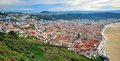 Nazare cityscape from viewpoint portugal Stock Image
