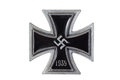 Nazi german medal iron cross isolated Royalty Free Stock Photo