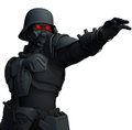 Nazi horror d sinister soldier in inspired armor Stock Photography