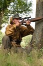 Nazi sniper Stock Photography