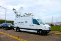 NBC News truck on location Royalty Free Stock Images