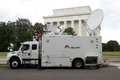 Nbc news truck washington d c aug a next to the lincoln memorial on august in washington d c was covering the th anniversary Stock Images