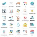 Business Concepts Color Vector Icons Set