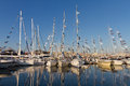 Nd international istanbul boatshow sailboats in on september in turkey more than exhibitors and displayed boaats in show Stock Photos