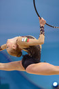 Nd rhythmic gymnastics world championship kiev ukraine august mariya mateva of bulgaria in action during the championships in kiev Stock Image