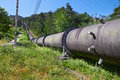Ndustrial pipe with gas and oil Stock Images