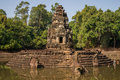 Neak pean temple at the angkor wat historical site area Stock Photography